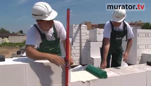 Ściany z betonu komórkowego - murowanie