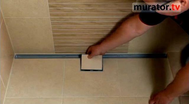 Odpływ liniowy w łazience