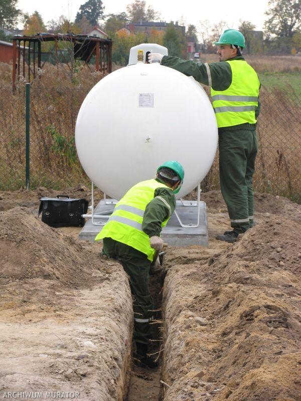 Zbiornik naziemny na gaz płynny