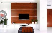 Telewizor na ścianie w salonie