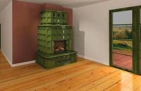 Kominek kaflowy, czyli niezwykła dekoracja salonu. Przykładowa aranżacja