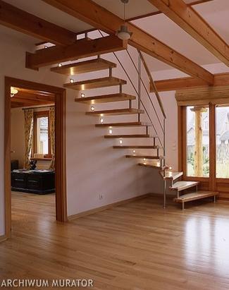 Rodzaje schodów: schody proste z jednym zabiegiem